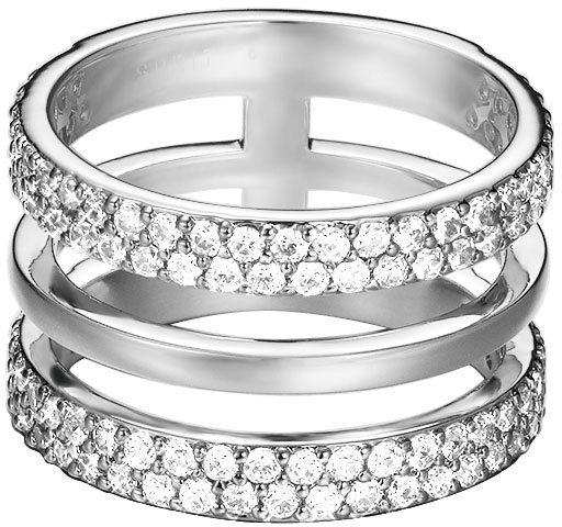 Esprit Ring, mit Zirkonia, »ESPRIT-JW52896, ESRG02784A« in silberfarben