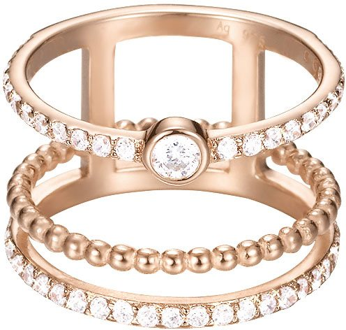 Esprit Ring, mit Zirkonia, »ESPRIT-JW52892, ESRG92787C« in roségoldfarben