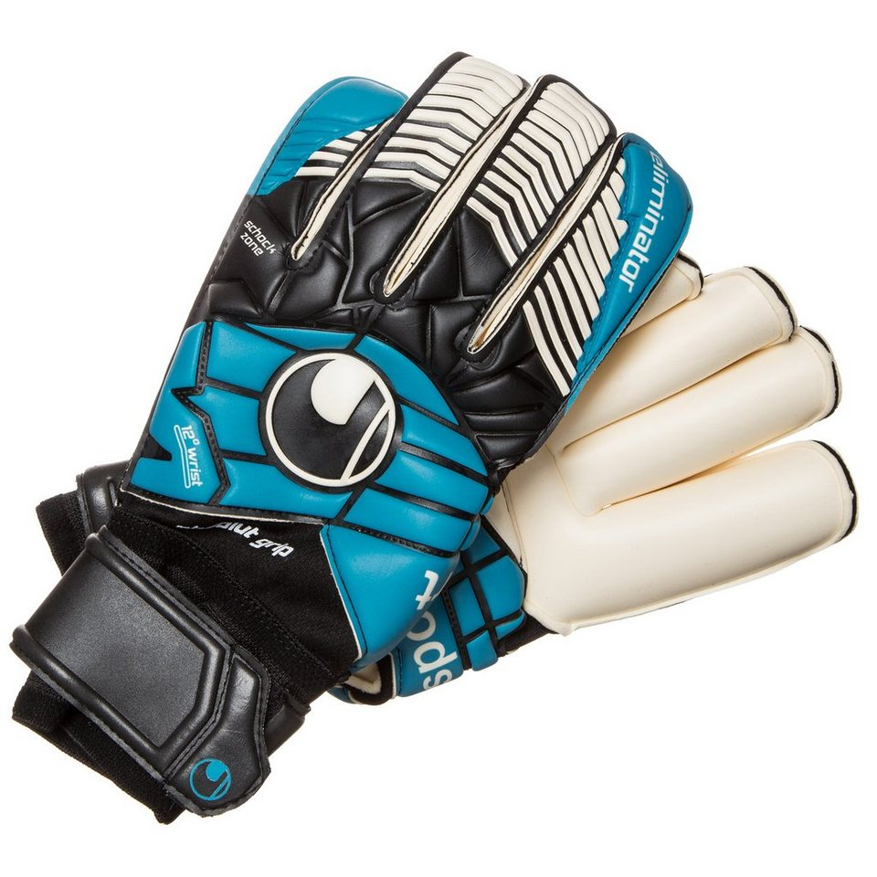 UHLSPORT Eliminator Absolutgrip RF Torwarthandschuh Herren in schwarz / cyan