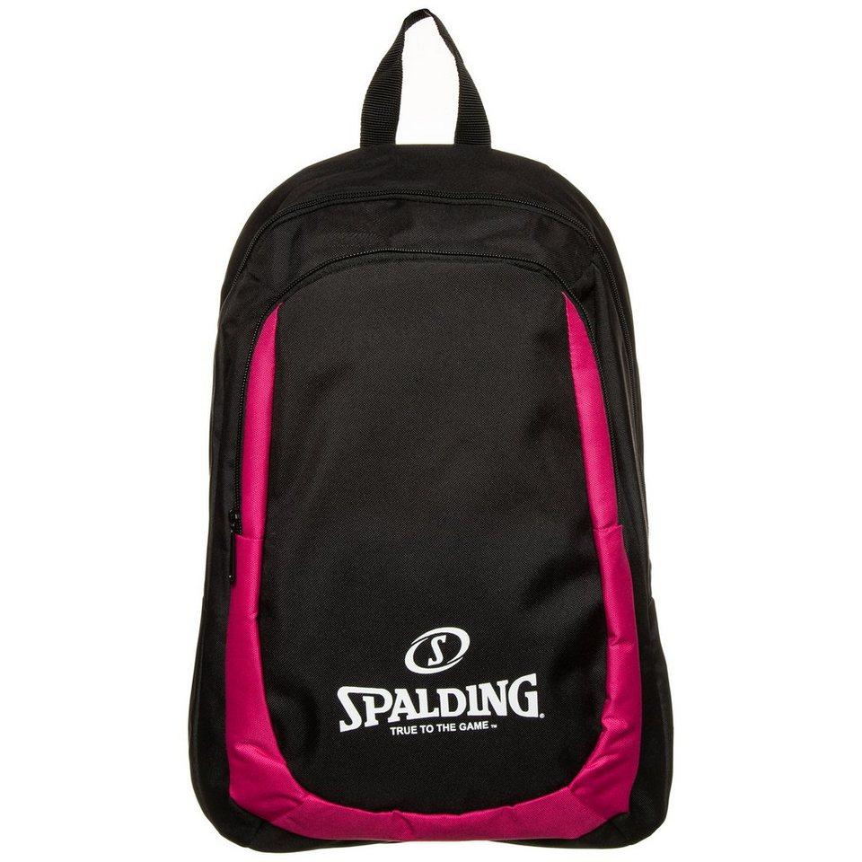 SPALDING Essential Rucksack in schwarz / pink