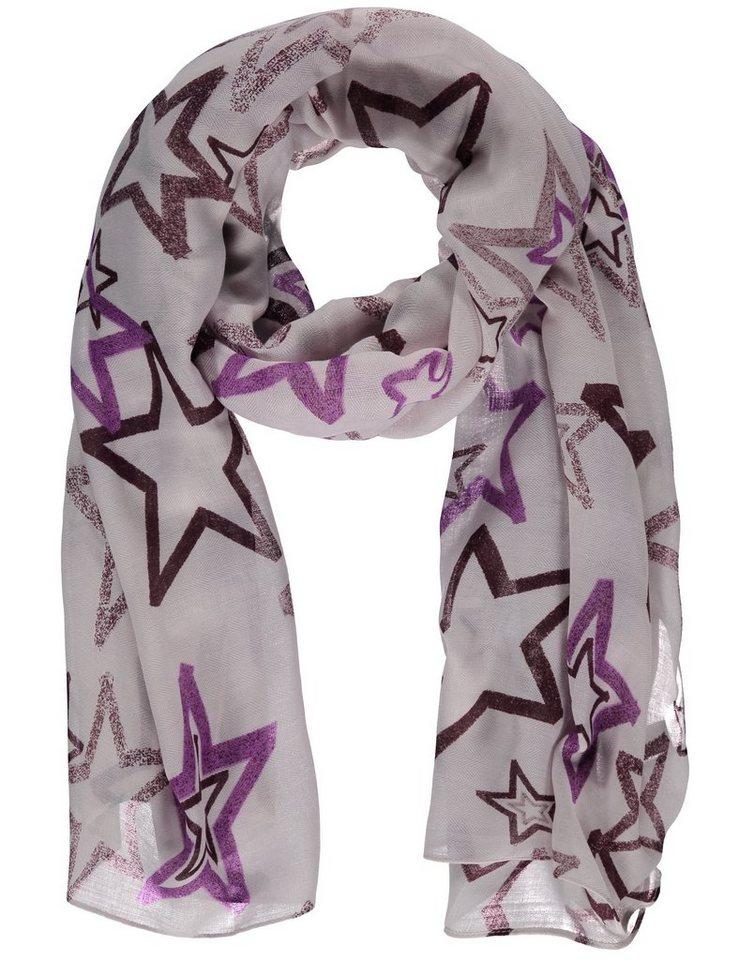 Taifun Schal »Leichter Schal mit Sternen« in Lila Druck