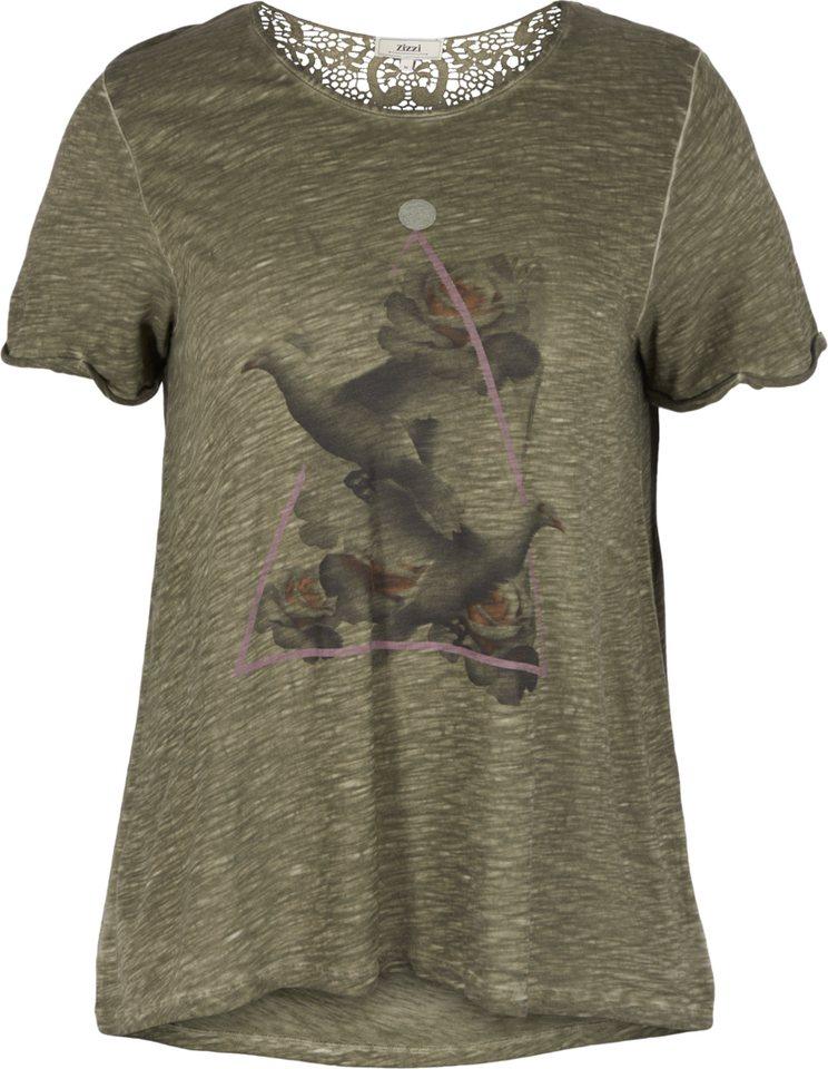 Zizzi T-Shirt in Ivy green