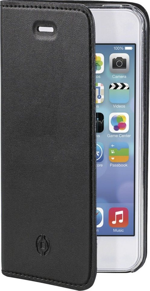 Celly Schlankes FlipCover für das iPhone 5/5S/SE »Air Case« in schwarz