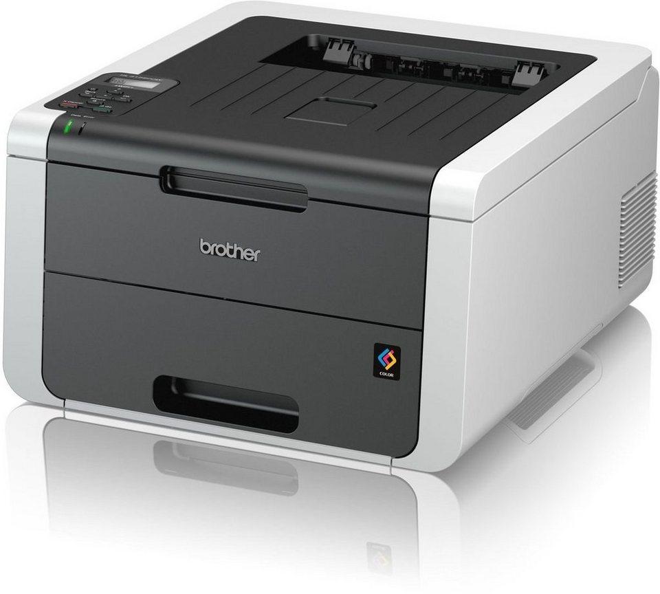 Brother Farblaserdrucker »HL-3152CDW Farb-LED-Drucker« in Grau-Weiß