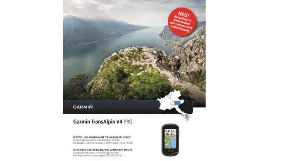Garmin Karte »Transalpin v4 Pro (DVD/microSD/SD)« in Schwarz