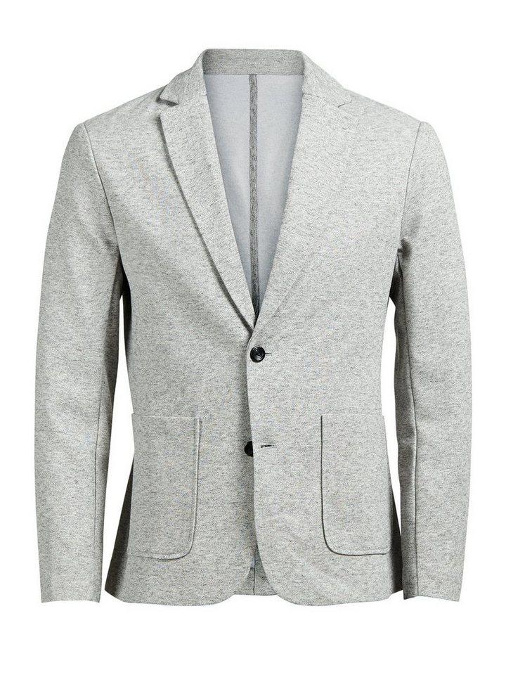 Jack & Jones Classic Sweat blazer in Light Grey Melange