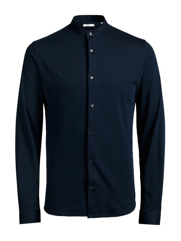 Jack & Jones Pikee-Mao Langarmhemd in Navy Blazer