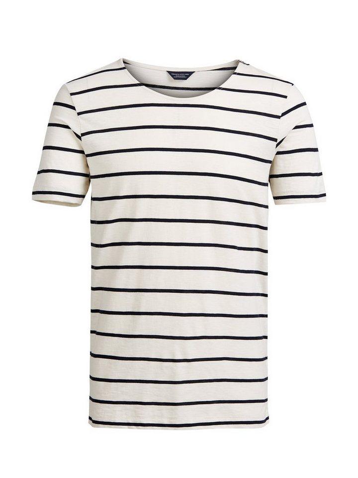 Jack & Jones Gestreiftes T-Shirt in Egret