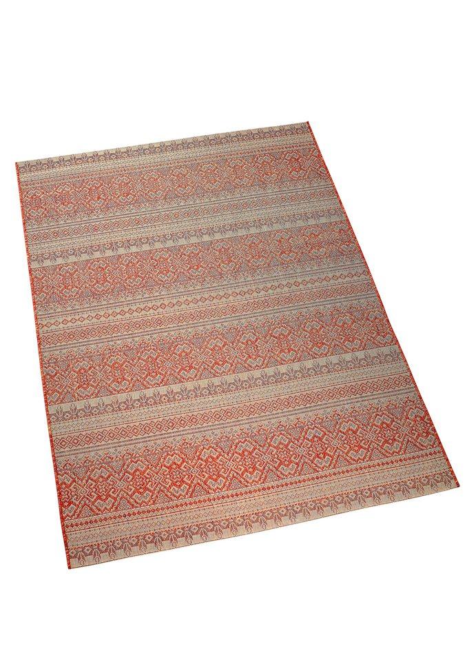 Teppich in terrakotta