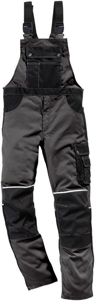Latzhose »Worker« in grau schwarz