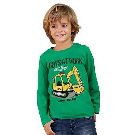 CFL Langarmshirt mit Schaufelbaggermotiv