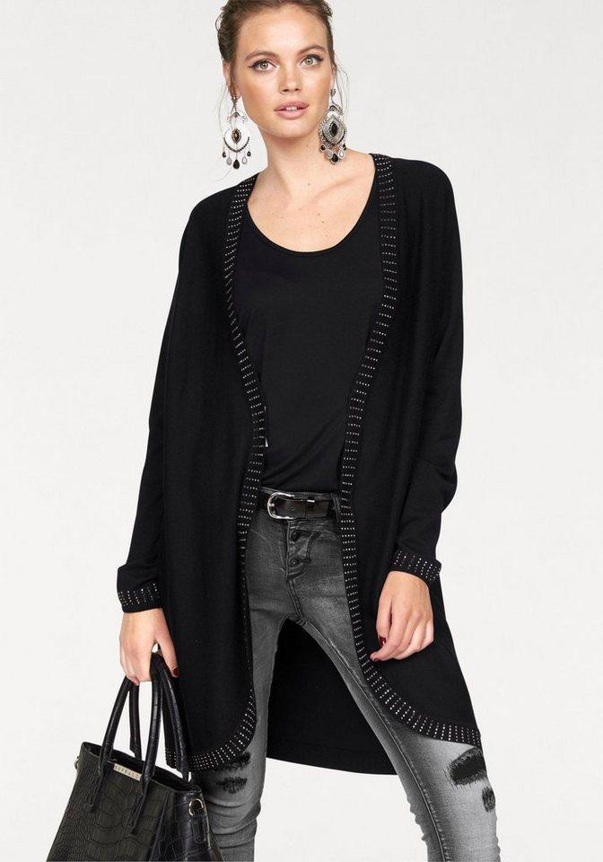 Melrose Cardigan mit Glitzersteinen in schwarz