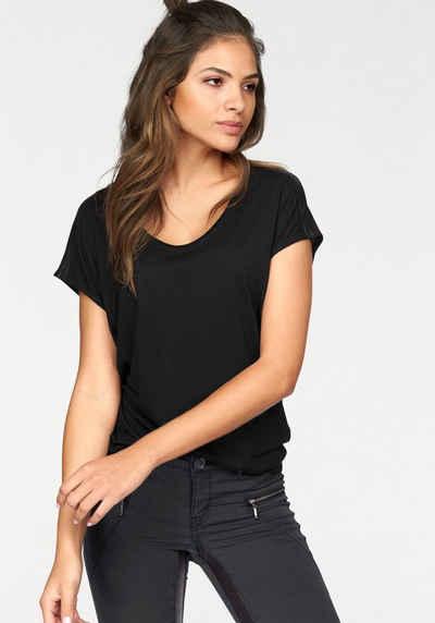 AJC Oversize-Shirt mit Schulterdetail in Lederoptik