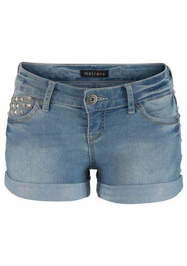 Melrose Jeansshorts, mit Nieten