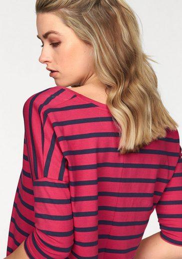 Ajc Oversized Shirt, With Stripes
