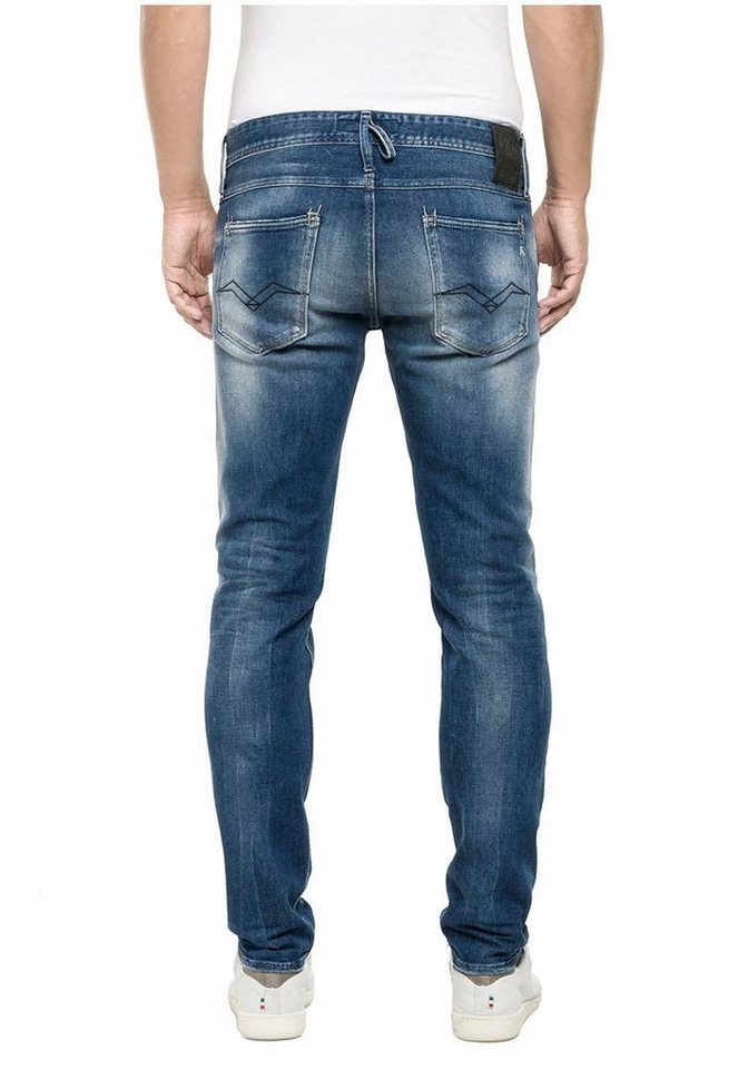 Replay Straight-Jeans »Ronas« in mid-blue