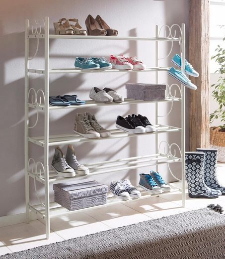 Home affaire Schuhregal »Princess«, 3-tlg., 3er Set, Platz für ca. 24-30 Paar Schuhe (ohne Absatz), Höhe 120 cm