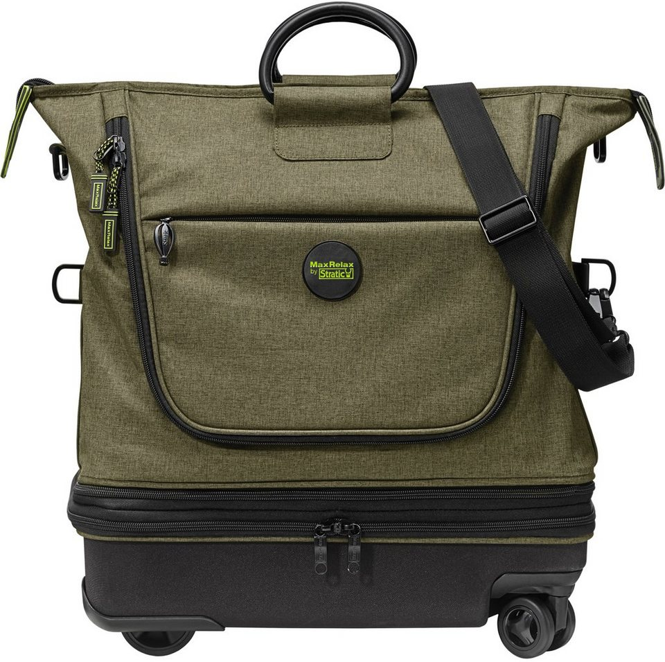 MaxRelax by Stratic Reisetasche mit 4 Rollen, »Whale Doggy Mover« in khaki