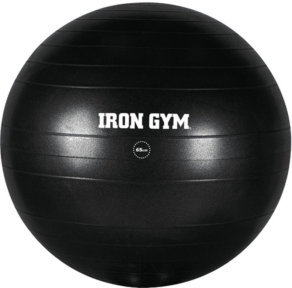 IRON GYM Gymnastikball in schwarz