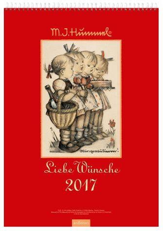 Broschiertes Buch »Liebe Wünsche 2017. Hummel Wandkalender«