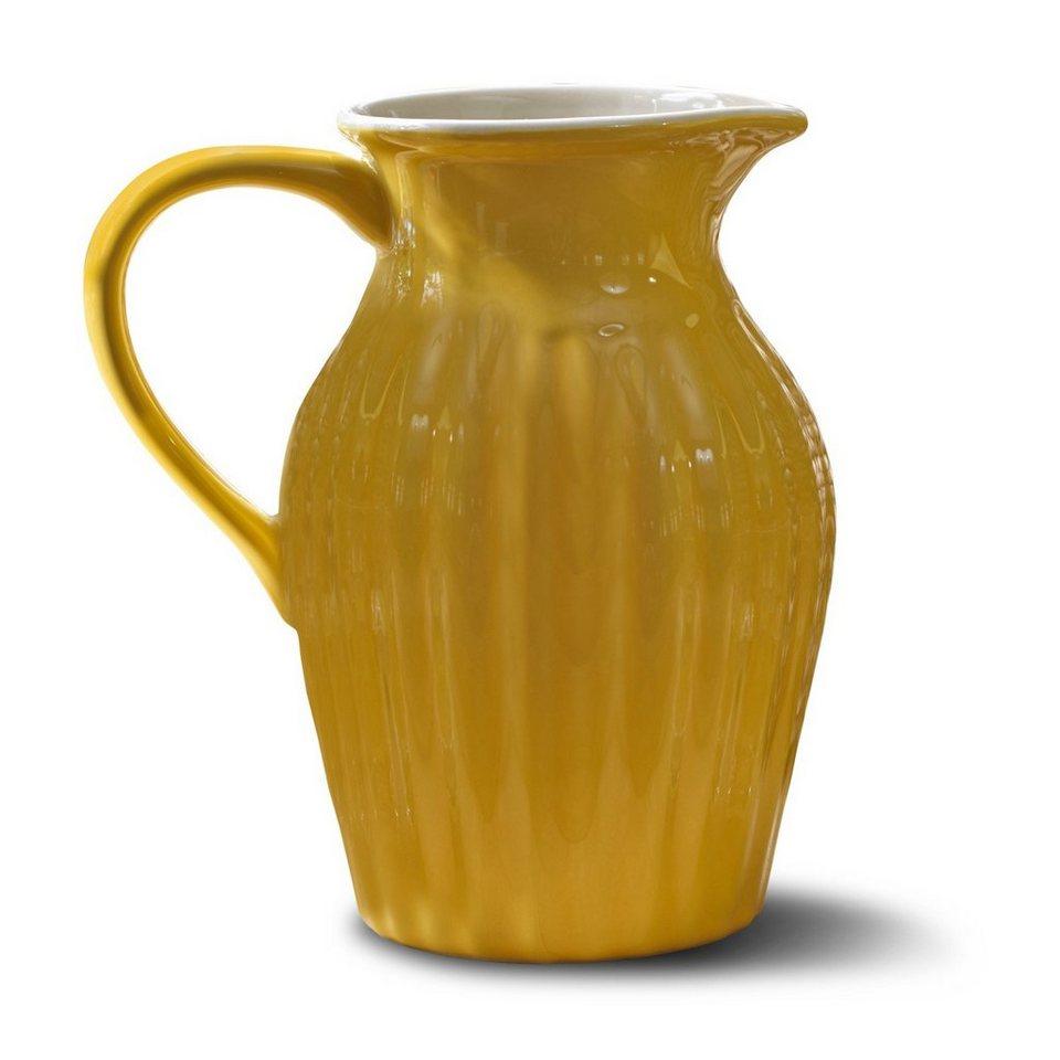 Loberon Krug »Tobe« in gelb/weiß