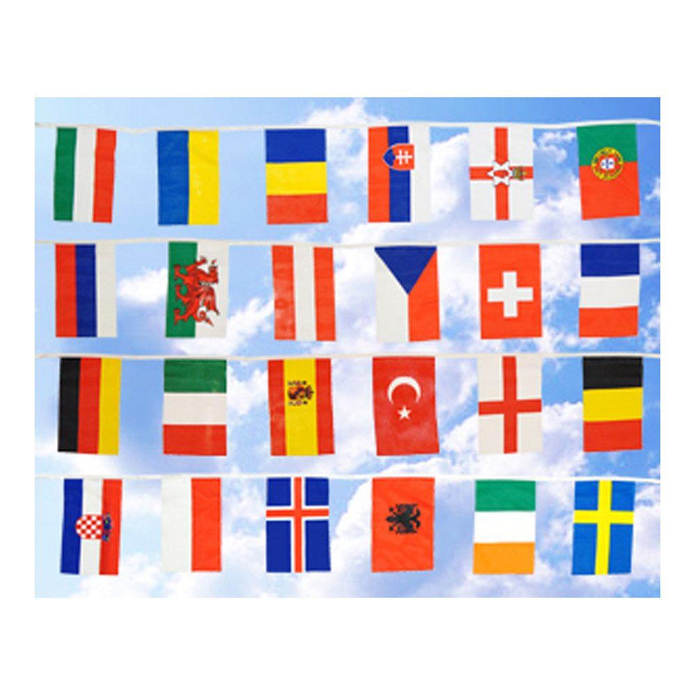 Promex Flaggen-Kette 24 EM 2016 Teilnehmerländer »klein 6,90 m«
