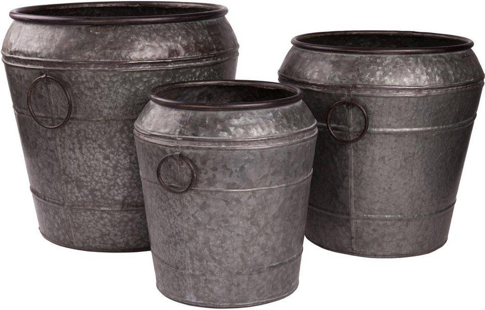 Wittkemper Eimer (3er Set) in grau