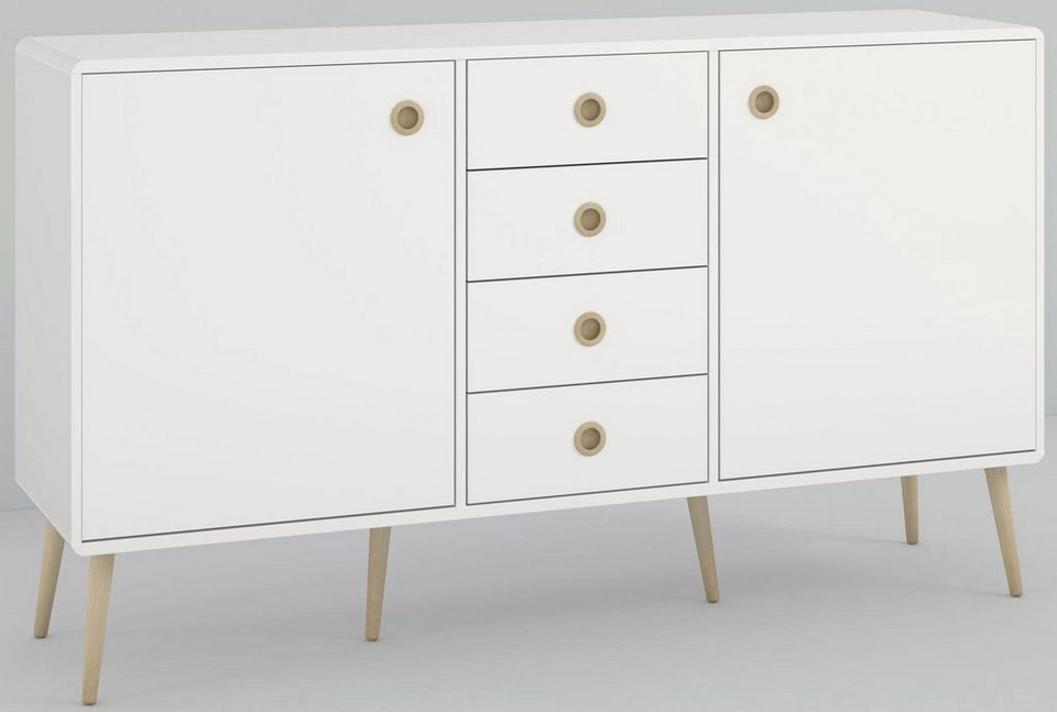 Home Affaire Sideboard Softline Breite 153 Cm Otto