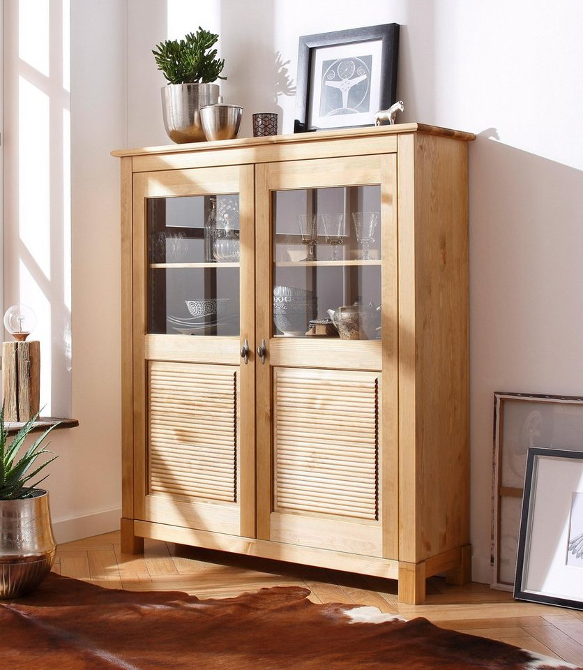 Home affaire Highboard »Rauna«, Breite 120 cm in gelaugt/geölt