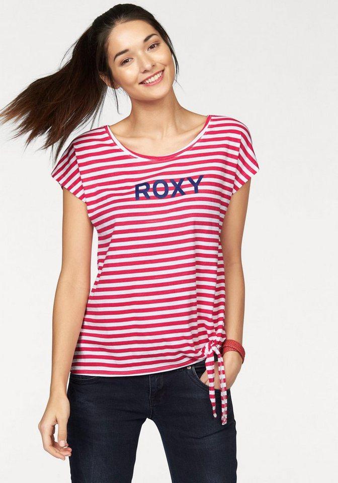 Roxy T-Shirt in Rot-Weiß