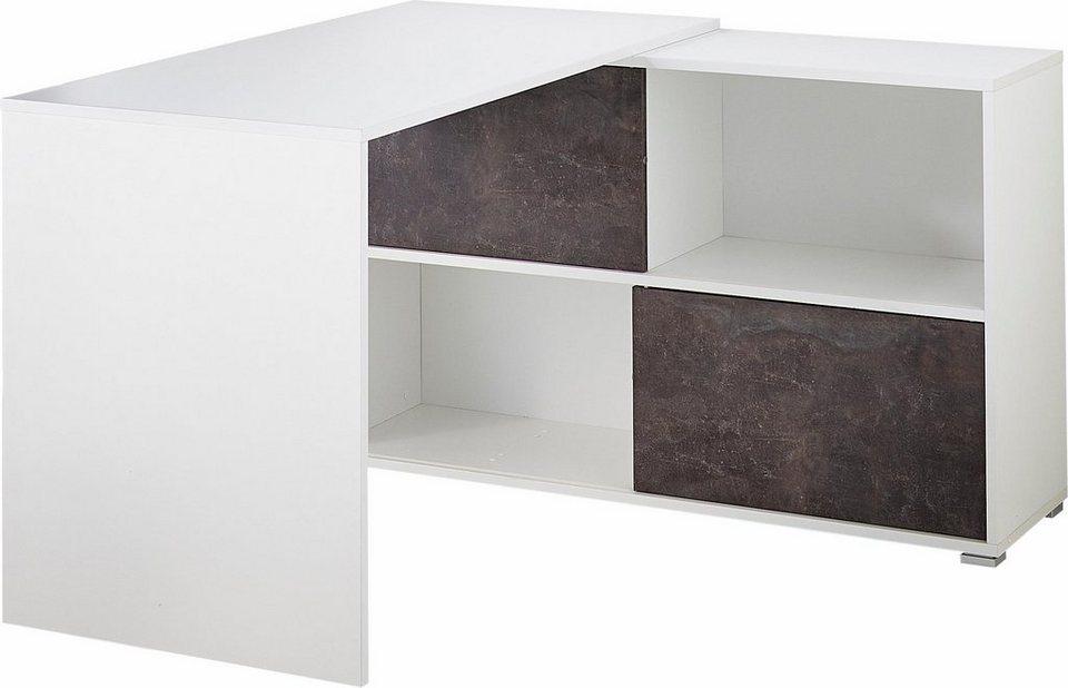 Germania Schreibtisch »Altino« in weiß/basalto-dunkel