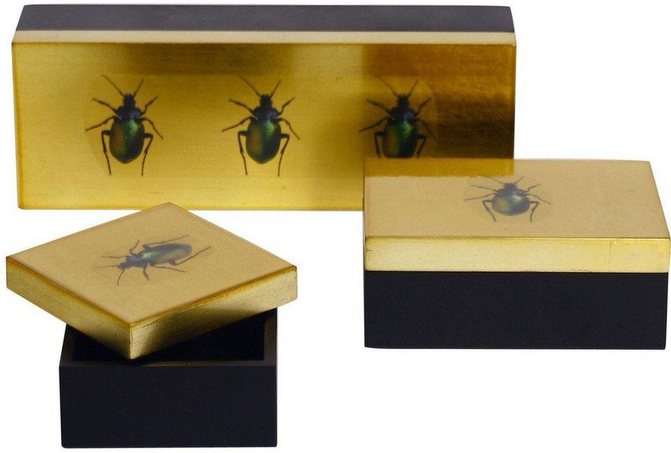 Wittkemper Box (3er Set) in goldfarben