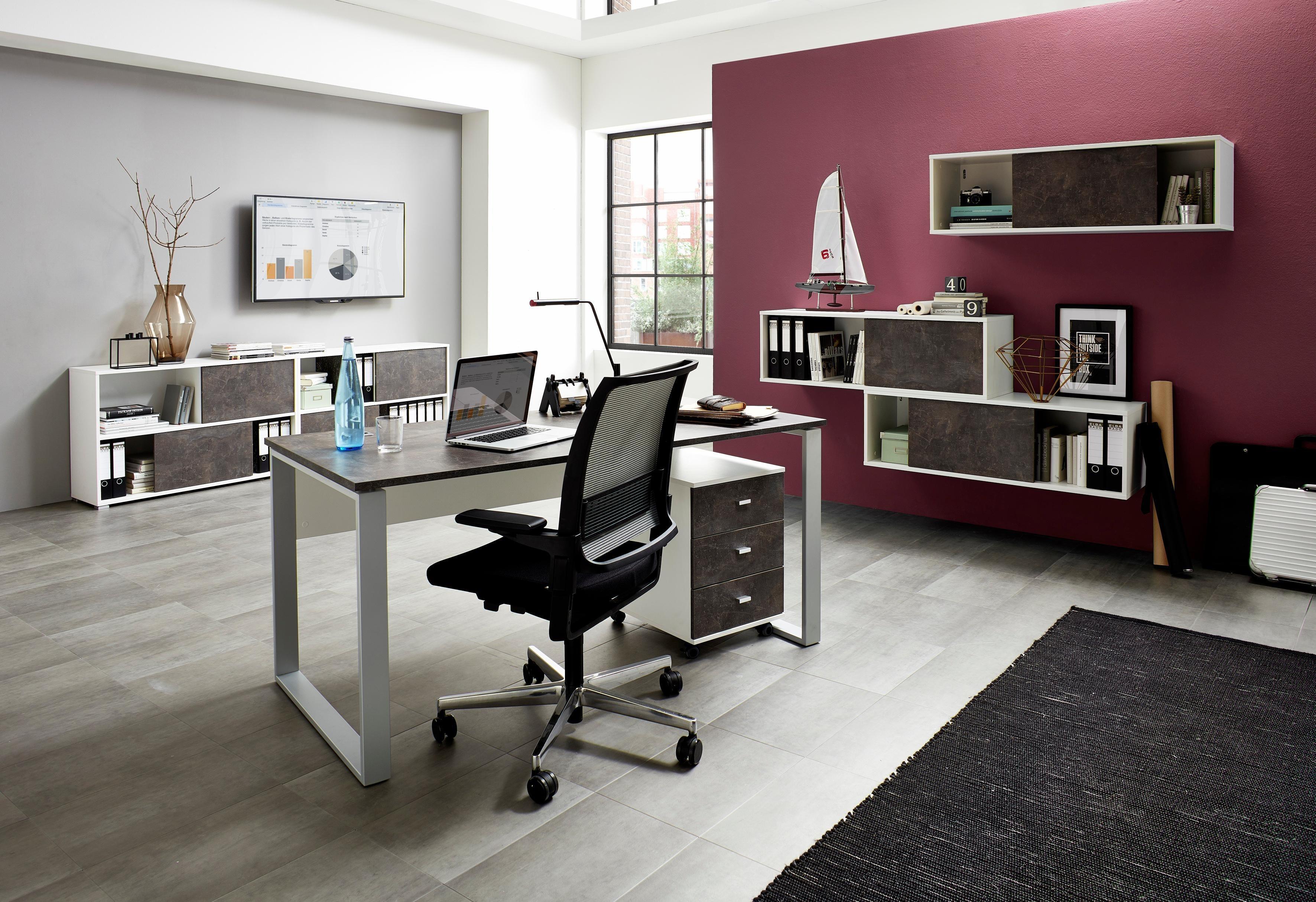 GERMANIA Büromöbel-Set »Altino« (2-tlg.)   Büro > Büromöbel-Serien   Weiß   Melamin   GERMANIA