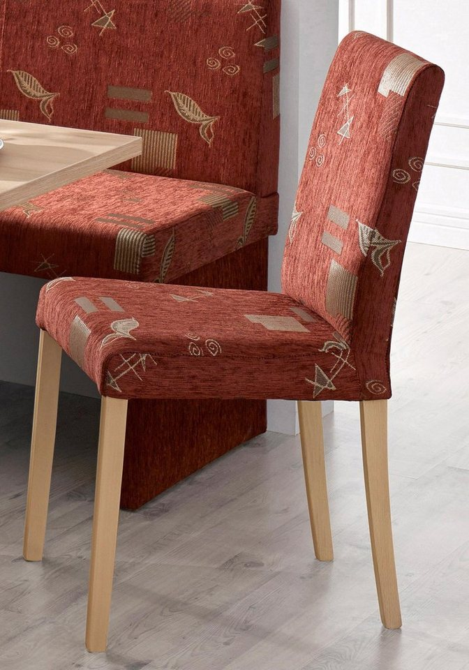 Stühle (2 Stck.) in terrafarben gemustert