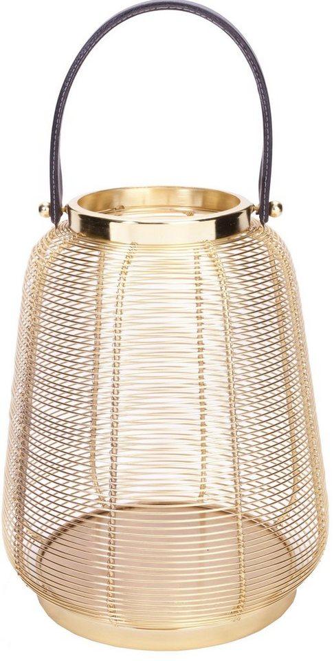 Wittkemper Windlicht »Poseidon« in zwei Größen in gold