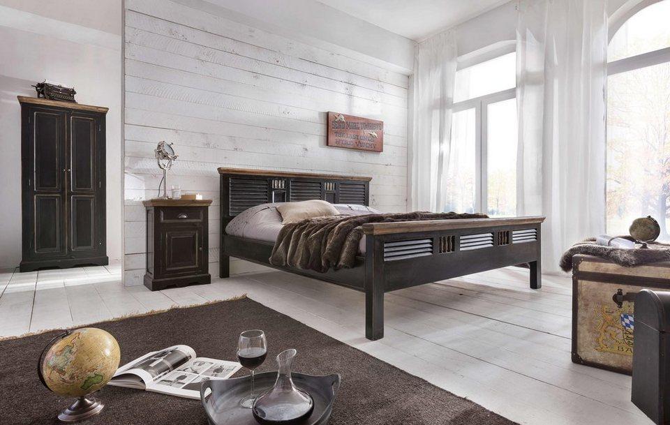 SIT Bett »Corsica« in schwarz/honig
