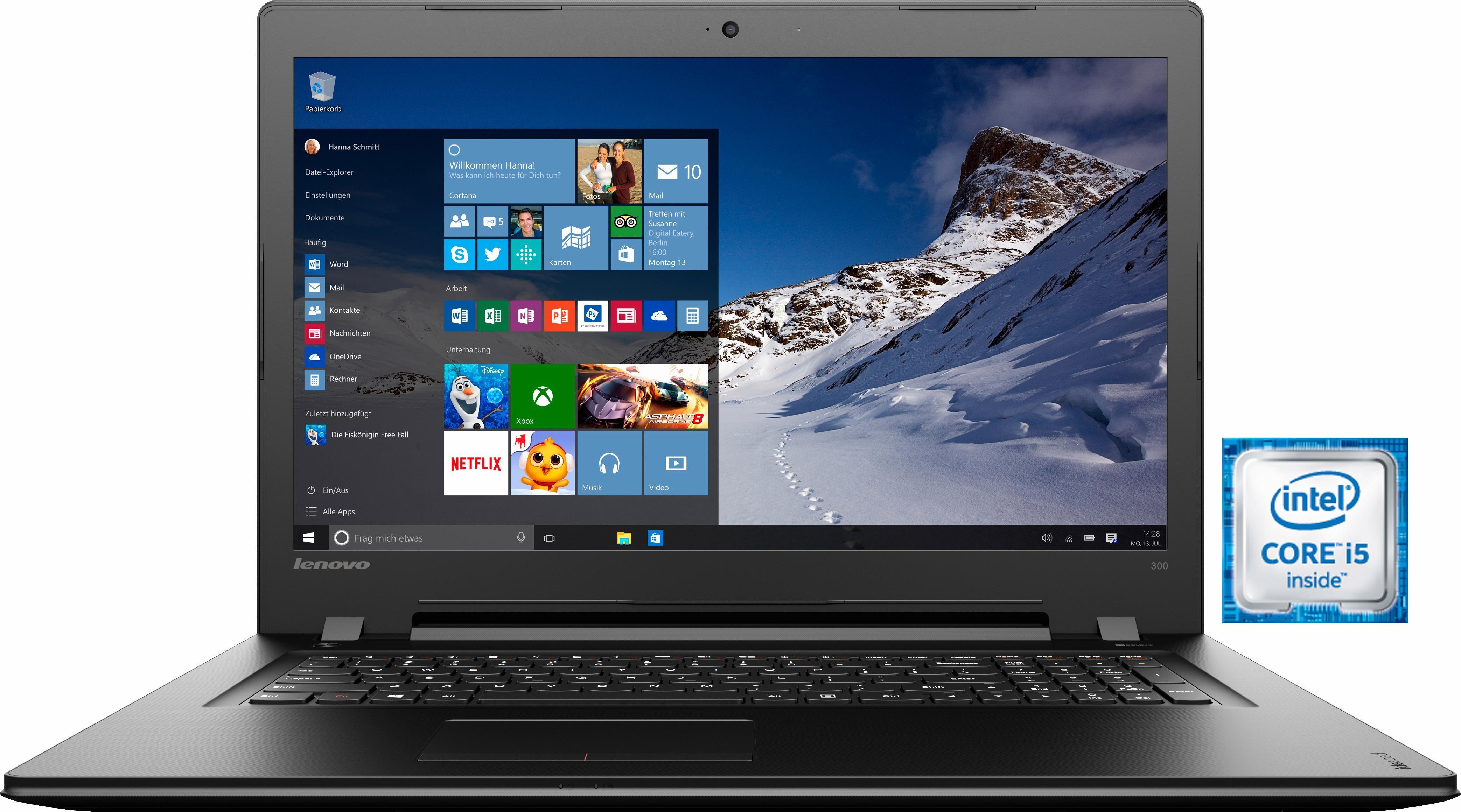 Lenovo Ideapad 300-17ISK Notebook, Intel® Core™ i5, 43,9 cm (17,3 Zoll), 1000 GB Speicher