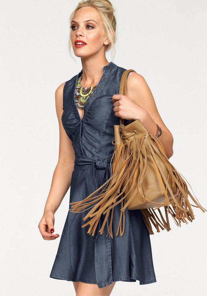 Melrose Jeanskleid mit Bindegürtel in darkblue
