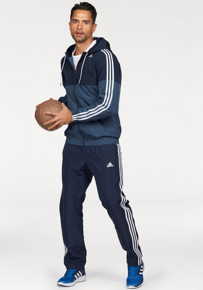 adidas Performance Trainingsanzug »TRACKSUIT TRAIN WOVEN« in marine-blau
