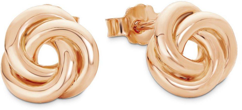 Amor Paar Ohrstecker, »Knoten, E107/8 527415« in Silber 925-roségoldfarben vergoldet