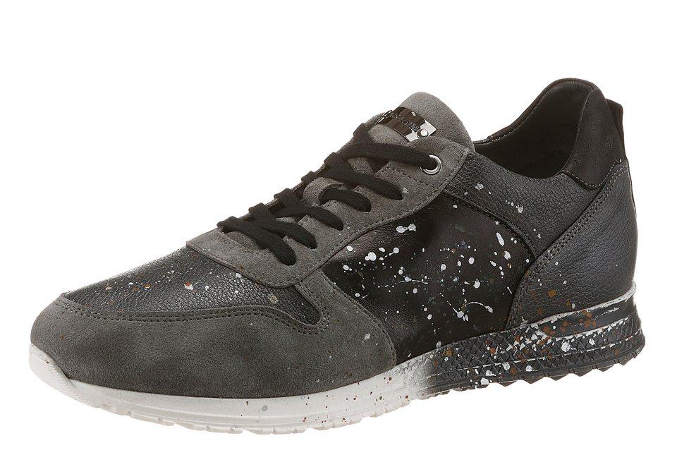 NOCLAIM »Racy 7« Sneaker handbemalt in grau-schwarz