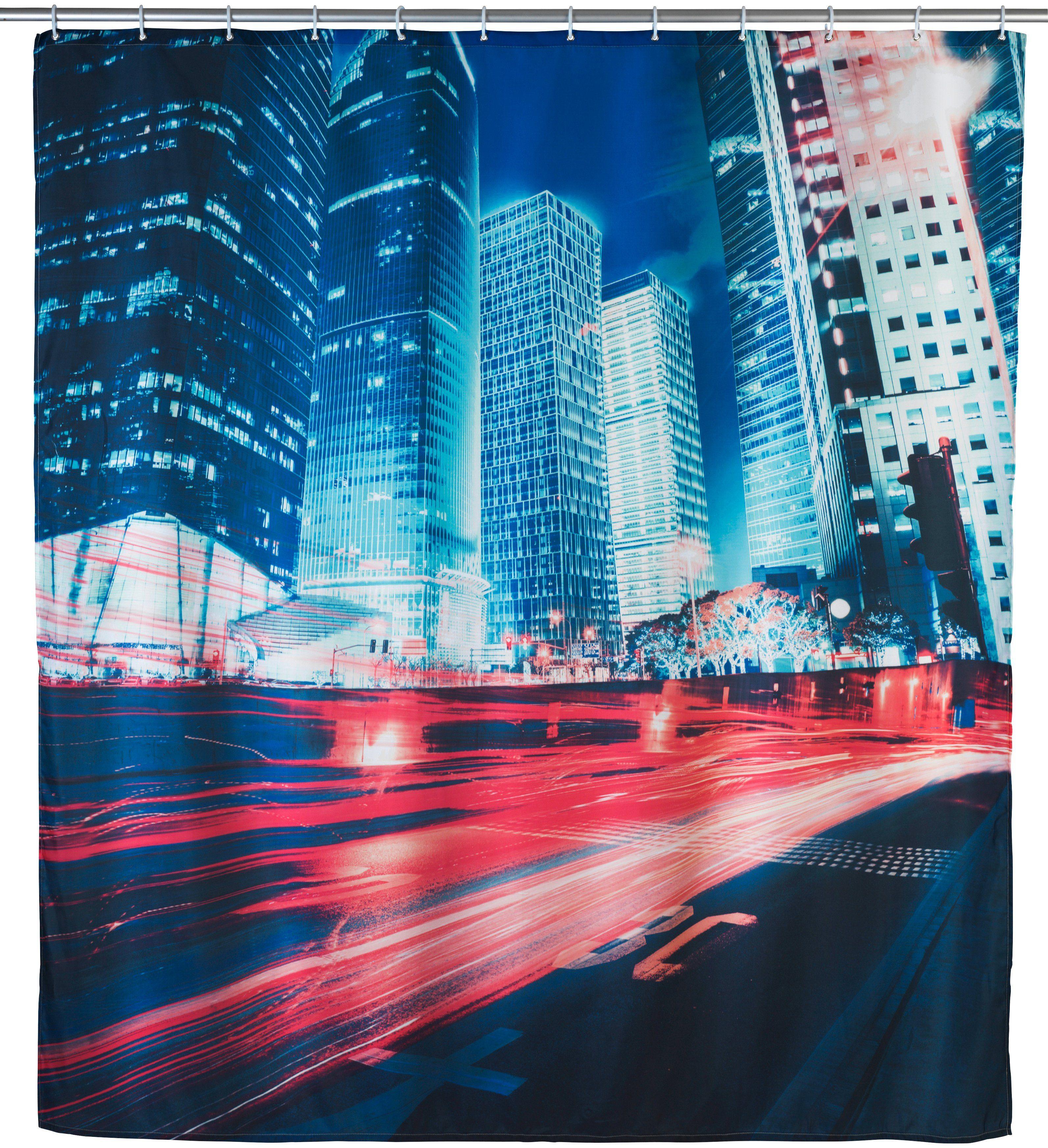 WENKO Duschvorhang »Downtown«, Breite 180 cm