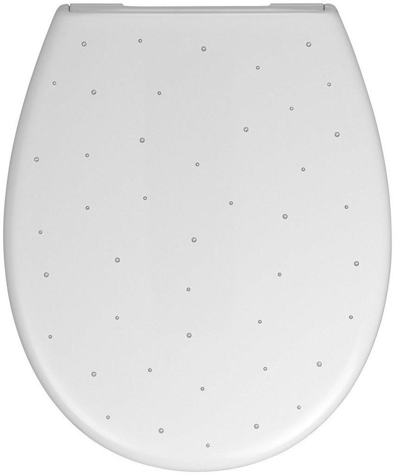 WC-Sitz »Spiazzo Swarovski«, Mit Absenkautomatik in weiß