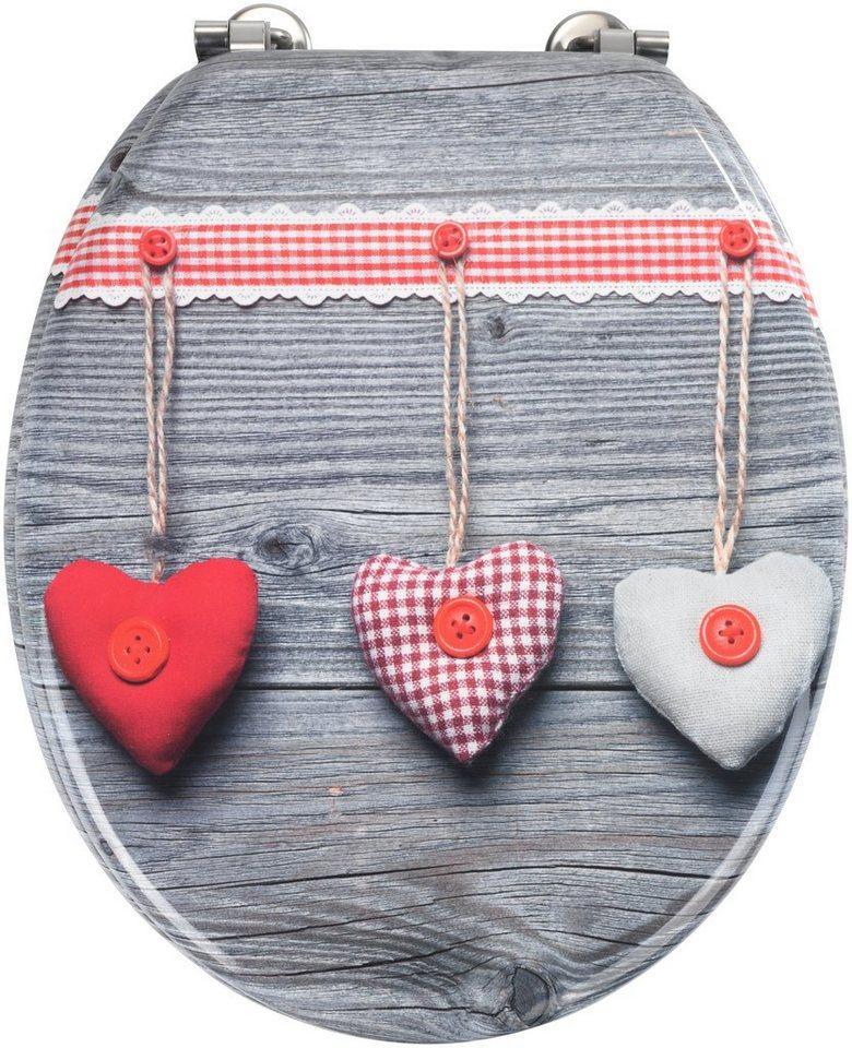 WC-Sitz »Bavarian Hearts« in bunt