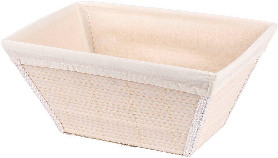 Aufbewahrungsbox »Bamboo Aufbewahrungskorb« in weiß