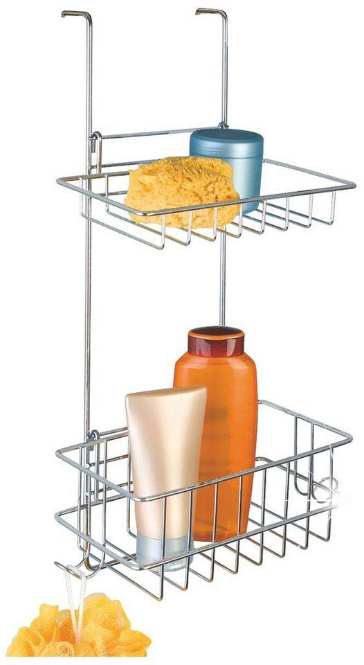Duschablage »Duschablage mit 2 Körben« in edelstahlfarben