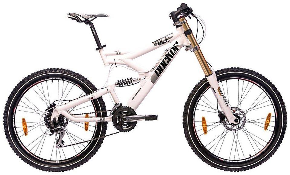 Mountainbike »Vole 2.0, 26 Zoll«, SHIMANO Acera 24 Gang, Doppelbrücken Federgabel in weiß