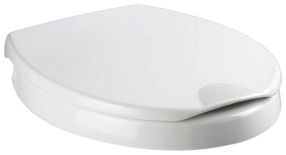 Wenko WC-Sitz »Secura Komfort, Sitzerhöhung 5 cm«, Mit Absenkautomatik in weiß