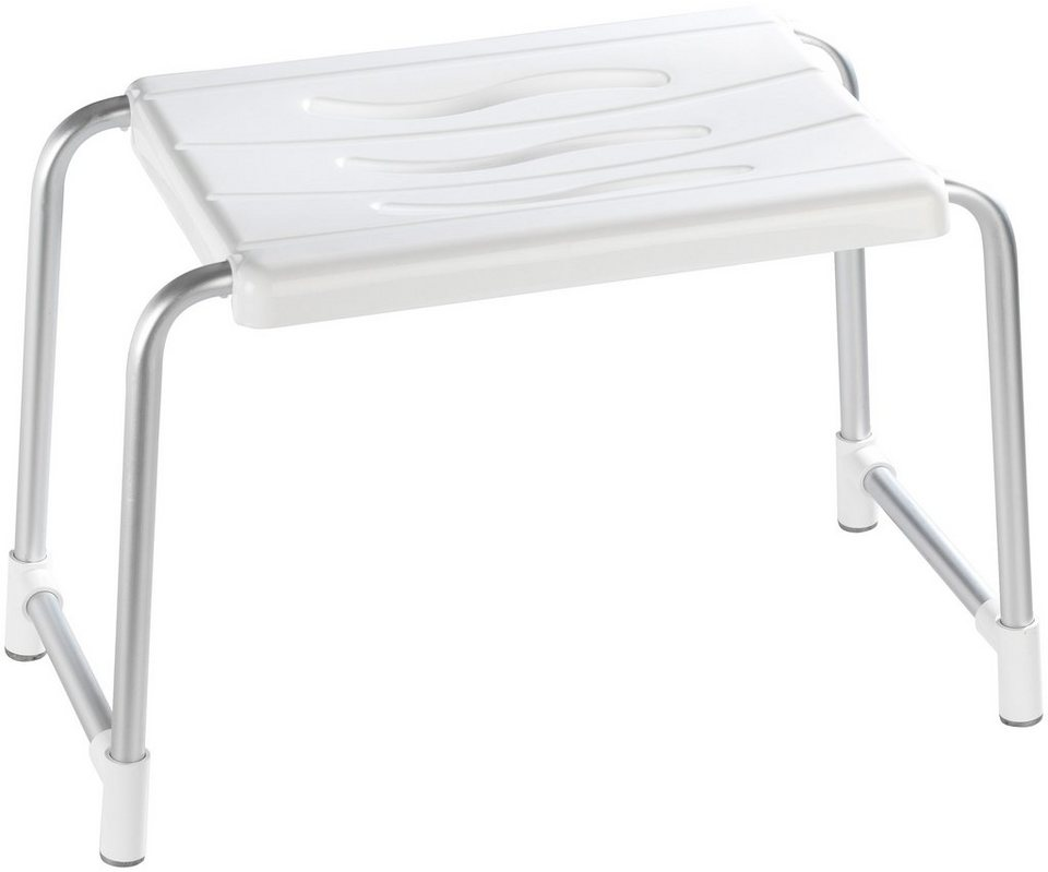Duschhocker »Secura« in weiß/silber