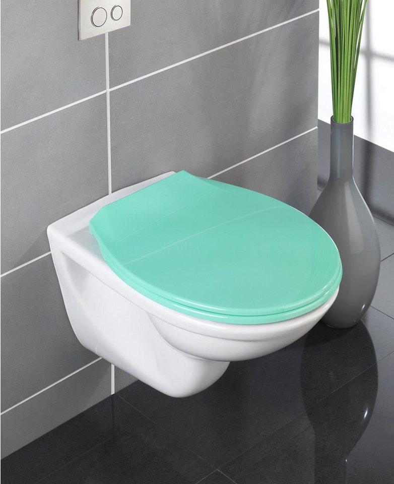 Wenko WC-Sitz »Premium Kos«, Mit Absenkautomatik in grün